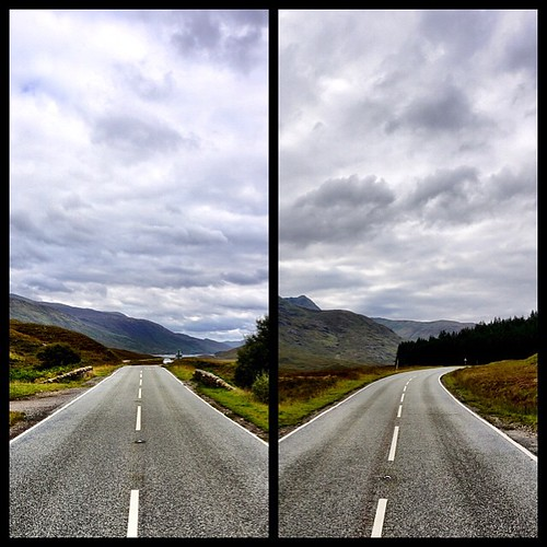 From last summer while driving through the Highlands w/ @speedpaq , standing in the middle of the road while trying to capture the amazing landscape #scotland