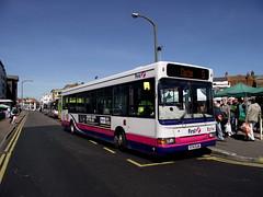 43714 (R714DJN) 14-04-2015 rte 5 JksRd CN.3 (routemaster2217) Tags: bus transport saloon clactononsea slf singledecker dennisdart lowfloorbus firstessex plaxtonpointer firsteastengland