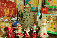 Christmas Finds (raining rita) Tags: santa tree angel bradford christmasdecorations candelabras