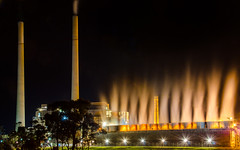 Wallerawang Power Station XV (nikabuz) Tags: nightphotography architecture energy industrial tripod australia nsw electricity coal powerstation hdr longexposures nikkor18105lens wallerawangpowerstation nikond7000