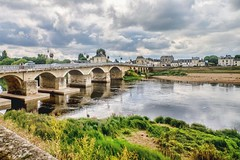 bridge to chinon (-liyen-) Tags: chinon bridge france loirevalley river fujixt1 challengeyouwinner gamewinner