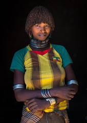 Portrait of a hamer tribe woman with ethiopia football shirt, Omo valley, Turmi, Ethiopia (Eric Lafforgue) Tags: africa portrait people color cute vertical shirt hair outdoors photography necklace football women colorful day adult african culture tribal blackpeople omovalley ethiopia tribe ethnic hairstyle oneperson hamer hornofafrica ethnology eastafrica abyssinia onepersononly realpeople blackskin onewomanonly lookingatcamera waistup turmi africanethnicity 1people indigenousculture ethnicgroup oneadult blackethnicity modernityandtradition ethiopianethnicity ethio161533