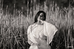 In light and shadow (Samir D) Tags: summer blackandwhite white monochrome fashion vancouver contrast portraits eos blackwhite model bc britishcolumbia madina northamerica vans russian blacknwhite westcoast wreckbeach romanticism 2016 markiii 85mm12 samird vancitybuzz