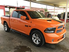 IMG_3692 (Smalltowntx87) Tags: orange sport cab wheels pickup automotive semi tires crew american dodge plus trucks washed hemi ram 1500 v8 detailed ignition iphone 2015 6s 57l