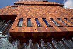 M.A.S Museum Aan de Stroom (jo.misere) Tags: red museum mas hands hand belgium belgie antwerp rood glas antwerpen willemdok rondingen