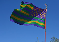 Mardi Gras Forever! (BKHagar *Kim*) Tags: street carnival party sky green gold la louisiana purple flag neworleans parade celebration napoleon nola fleurdelis mardigras prytania bkhagar