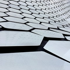 Hex (D. Welsh) Tags: travel detail architecture modern square mexico design arquitectura pattern hexagonal ciudad minimal material museo iphone minimalista soumaya iphoneography