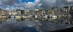 Sutton Harbour, Plymouth (Rich Walker75) Tags: uk blue england sky cloud water clouds landscape boats boat harbour yacht plymouth devon yachts westcountry