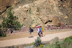 hiking in (Ben McLeod) Tags: brothers hike climbing liam myboys campbell rockclimbing smithrock smithrockstatepark