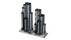 Section DownTown 5 (RedRoofArt) Tags: lego moc mini pico pica city building architecture downtown skyscraper micro
