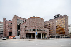 Tsentrosoyuz (Vasily Baburov) Tags: architecture moscow modernism lecorbusier modernarchitecture corbusier  pierrejeanneret tsentrosoyuz centrosoyuz   tsentrosoyuzbuilding charlesdouardjeanneret  nikolaikolli