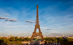 The Eiffeltower (Rutger Smulders Photography) Tags: city sunset paris photography la photo tour eiffeltower eiffel parijs overview eiffetoren