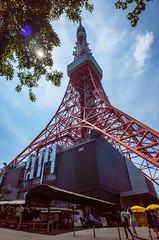 Tokyo tower (kmmanaka) Tags: grave japan tokyo tokyotower zojoji tokugawa