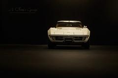1970 CHEVROLET Corvette in Classic White (aJ Leong) Tags: white classic chevrolet vintage garage 70s 1970 corvette 118 autoart