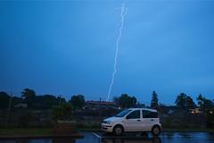 Lightning (ShiyuZhuang) Tags: cloud rain weather copenhagen denmark lightning herlev convective