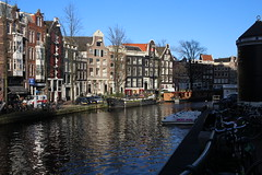 Amsterdam Dreaming (Stace_xoxo) Tags: reflection water netherlands amsterdam canon buildings reflections boats canal bikes canals pancake 24mm coats amsterdamwinter winterinamsterdam canon1200d amsterdam2015 pancake24mm