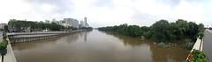 Crue de la Seine, Ile de Puteaux, pniches, la dfense (Grbert) Tags: seine ile ladfense puteaux pniches