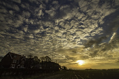Dawn over Billinge, St Helens, Merseyside, UK (ianandbarbara.bonnell@btinternet.com) Tags: uk england sky clouds sunrise landscape dawn lancashire sthelens wigan merseyside billinge northwestengland
