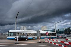 Weather coming in and the trolley bus (jaeschol) Tags: switzerland zrich ch trolleybus kreis5 vbz hardbruecke kantonzrich stadtzrich