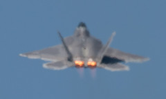 QIAS 2016 - Convective Blur (Jay:Dee) Tags: 2016 qias quinte international air show airshow cfb canadian forces base trenton ontario usaf united states force lockheed martin raptor f22 f22a fa22 jet fighter 5th generation stealth aircraft airplane military