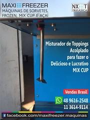 Máquina de Sorvete NXT - Maxi Freezer (Máquinas de Sorvete Maxi Freezer do Brasil) Tags: cup milk mix mcflurry shakes lançamento negócio sorvetes lucrativo