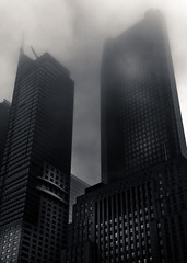 Downtown Toronto Fogfest No 2 (thelearningcurvedotca) Tags: above street city morning travel light sky urban blackandwhite sunlight mist toronto ontario canada abstract building tower texture window glass monochrome lines weather misty fog architecture modern clouds facade skyscraper outside outdoors blackwhite haze downtown pattern cityscape exterior view noiretblanc district background famous perspective foggy surreal landmark scene icon canadian calm structure minimal financialdistrict environment absolutearchitecture iamcanadian bwemotions torontoist linescurves blackwhitephotos bej true2bw cans2s blackandwhiteonly bwartaward discoveryphotos yourphototips briancarson blogtophoto bwmaniacv2 thelearningcurvephotography