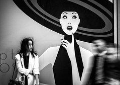 What If... (Petricor Photography) Tags: street people blackandwhite white motion black milan girl hair photography candid milano and sales