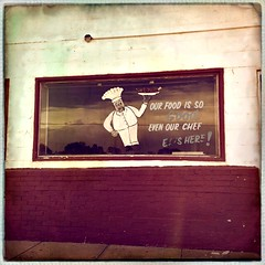 The Chef (pam's pics-) Tags: sign handpaintedsign cafe food restaurant smalltown ks kansas midwest us usa america marysvillekansas highway36 mobilephonephotography cameraphone appleiphone iphone5s hipsta hipstamatic pamspics pammorris