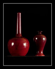 Blood Red Vases (Gabriel J. Bell) Tags: bloodred vases english bernardmoore royaldoulton englishpottery stilllife redvases rojo rot rouge rosso red