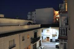 Barriada (JorgeSantosFM) Tags: noche luz lampara horizonte balcon anochecer pueblo