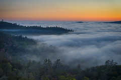 Bad weather always looks worse through a window… (ferpectshotz) Tags: trees sunset fog twilight hills rolling goldenhour yosemitevalley catheysvalley cathaysvalley