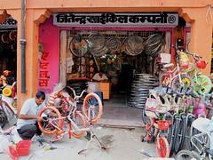 Outdoor mechanicals (DarkLantern) Tags: street city pink india photography indien jaipur rajasthan inde