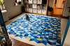Step 4: Baste three layers of quilt sandwich (osiristhe) Tags: triangles cat triangle quilt needlework sewing dizzy basting 18200mm isoscelestriangle nikond5100