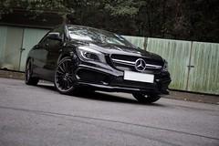 Mercedes-Benz CLA45 AMG (keyanphotography) Tags: black sedan photography star benz cool cloudy sunday automotive 45 mercedesbenz stealth a45 amg motorsport cla sheko smd taimeituk morningdrive lukkeng 4door a45amg cla45