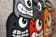ShootThePaparazzi - 10 (Jepeinsdesaliens) Tags: art lines monster japan illustration paper graffiti design sketch newspaper noir bright drawing flash alien dessin paparazzi characters invasion varnish posca geekart poscapens poscadesign ultrabrigth japanpapers