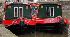 Brothers (scottprice16) Tags: uk red england boats canal yorkshire together skipton leedsliverpoolcanal canong1xmark2