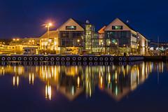 Varberg harbor (mfzombie) Tags: longexposure mars night canon eos sweden sverige lightroom slowshutterspeed slowexposure 2015 650d varbergnatt