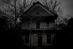 Home Sweet Home (tylersullivan618) Tags: old trees shadow sky blackandwhite bw house abandoned home nature rain night rural vintage dark dead photography death grey evening illinois experimental pentax grain lofi surreal overcast eerie retro creepy falling rainy photograph abandonedhouse ghosttown haunting grainy carbondale destroyed deserted homesweethome disposable southernillinois abandonedhome siu tunnelhill cavingin 2story southernillinoisuniversity goreville tylersullivan abandonedillinois abandonedporn earthporn pentaxk500 tunnelhillbikepath