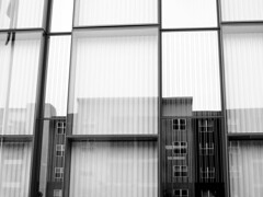 Window Reflections (vickilw) Tags: windows buildings reflections week36 7daysofshooting blackandwhitewednesday