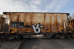 Mecro (Revise_D) Tags: graffiti trains graff gra tagging freight revised trainart fr8 bsgk benching fr8heaven fr8aholics fr8bench benchingsteelgiants freightlyfe