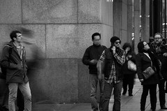 Is It a Bird... (Steven.O'Toole) Tags: street new york city light boy shadow people bw woman white man black men girl night canon silver photography grey women day cityscape candid gray 70d 18135mm