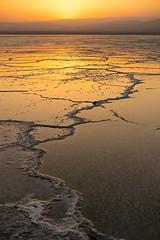 The Bolt (departing(YYZ)) Tags: africa travel sunset orange hot reflection tourism landscape outside salt surreal flats exotic salty heat cracks ethiopia saltflats eastafrica danakildepression hottestplaceintheworld sonnartfe35mmf28za