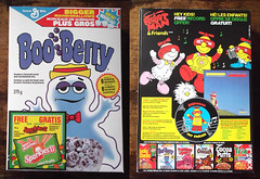 Vintage 1984 Canadian Boo Berry Cereal Box Robot Man (gregg_koenig) Tags: old canada man monster vintage robot berry box cereal canadian boo 80s 1984 1980s booberry