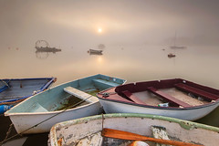 ROCK THE BOAT (Mark John Nepomuceno) Tags: sun mist fog sunrise boat suffolk nikon woodbridge d800 moored riverdeben