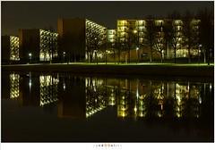 Flatgebouwen (nandOOnline) Tags: water licht flat nacht nederland kanaal avond appartement centrum stad donker reflectie woning helmond verlichting nbrabant flatgebouwen zuidwillemsvaart