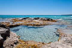 Formentera Cal des Mort - Natural Pool (Darkduke986) Tags: sea sun pool landscape nikon shore paysage formentera d3000