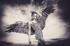 Angel - Digital Darkroom (DapperGentMike) Tags: portrait field lady angel portraits outdoors wings model nikon women ngc digitalart surreal depthoffield fallen depth grief digitaldarkroom