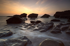 Heddon's Mouth Sunset (RattyBoots) Tags: sunset seascape landscape rocks devon heddonsmouth milkysea leesoftgrads canon5d3 canon1635f4