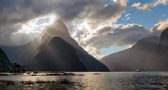 Mitre Peak Rays (Panorama Paul) Tags: sunset newzealand panorama clouds rays milfordsound nikkorlenses nikfilters nikond800 wwwpaulbruinscoza paulbruinsphotography