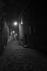dans la pnombre (stefanovitch183) Tags: light mist france fog bourges lumire nuit brouillard ville brume clairage pav